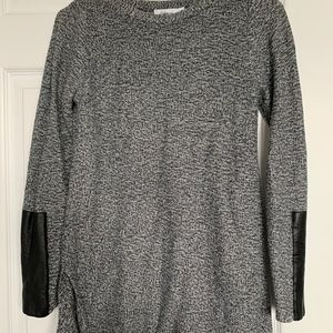 Reitmans Salt and Pepper leather style sweater